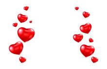 Red Balloon Heart Frame. Brigh...