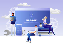 System Update Illustration Con...