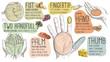 Leinwandbild Motiv Food Portion Size measured by hand