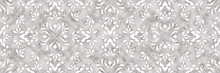 Damask Flowers Seamless Backgr...