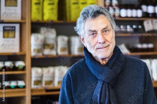 Fototapety, obrazy: Portrait Of Senior Man In Store