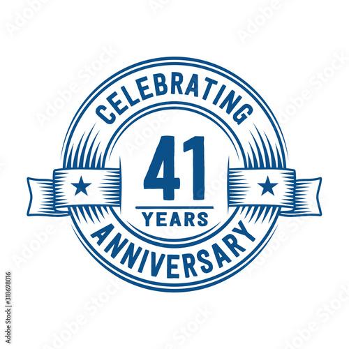 Papel de parede 41 years logo design template