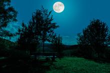A Romantic Landscape In The Mi...
