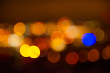 Out Of Focus Lights Of A City ...