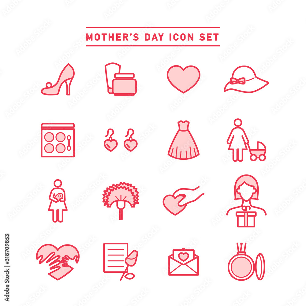 Fototapeta MOTHER'S DAY ICON SET