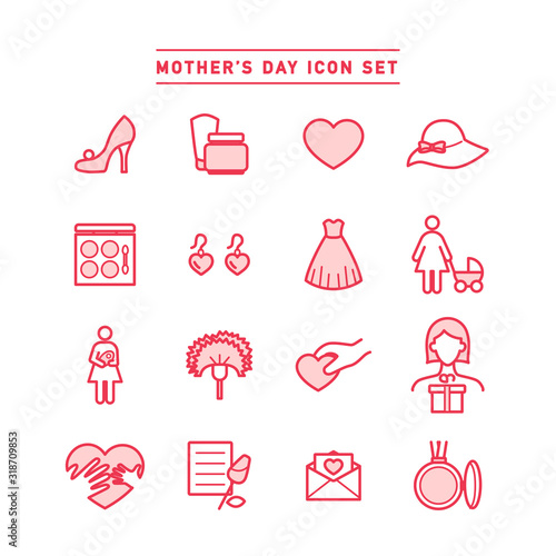 MOTHER'S DAY ICON SET Wallpaper Mural