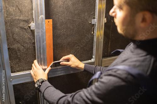 Fotografia, Obraz Make soundproofing in room