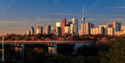 Fototapeta premium BRIDGE AND CITYSCAPE AGAINST SKY