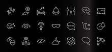 Sleep Vector Line Icons Set. C...
