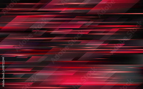 High speed. Red abstract technology background. Vector illustration