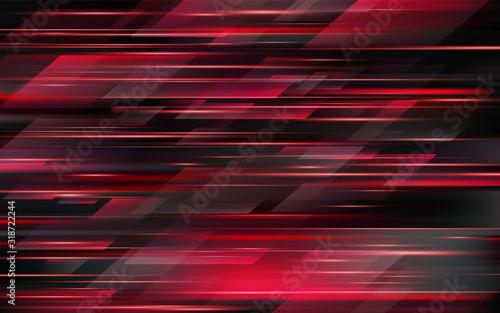 Fototapeta High speed. Red abstract technology background. Vector illustration obraz