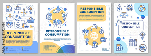 Fotomural Responsible consumption brochure template