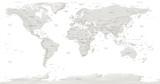 mapa świata ze stolicami i opisami na białym tle