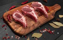 Raw Lamb Chops, Mutton Cuts Or...