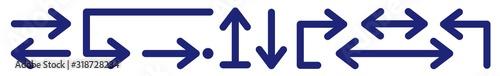 Photo Arrow Icon Blue | Arrows | Infographic Illustration | Direction Symbol | Pointer