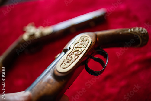 Photo Old blunderbuss offering for duel