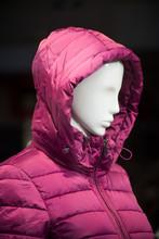 Closeup Of Pink Winter Coat On...