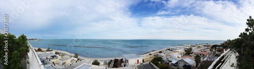 PANORAMIC VIEW OF SEA AGAINST SKY Canvas Print