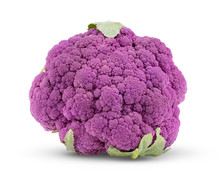 Purple Cauliflower On White