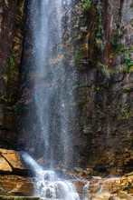 Waterfall.The Furnas Reservoir...