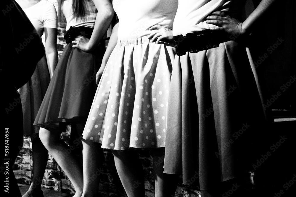 Fototapeta Midsection Of Woman Wearing Skirts
