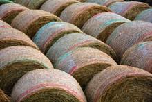 Many Straw Bales Of Hay