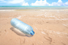Plastic Bottle On The Sandy Be...