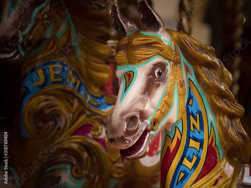 Fotomural Close-Up Of Carousel In Amusement Park
