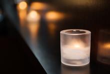 Candlelit Bar Setting