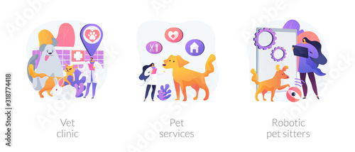 Fotomural Veterinary hospital services and domestic animals hotels