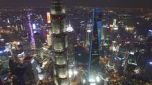 AERIAL Shot Of Shanghai Lujiaz...