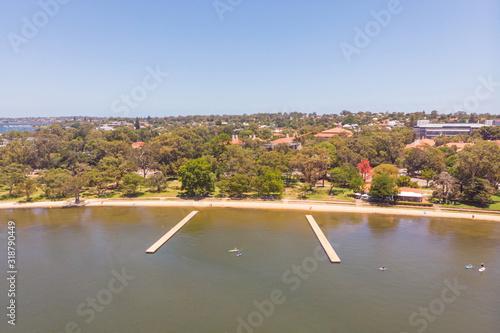 Aerial View of  Matilda Bay Canvas Print