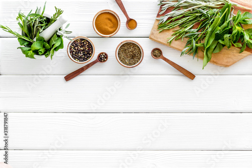 Making spices Canvas Print