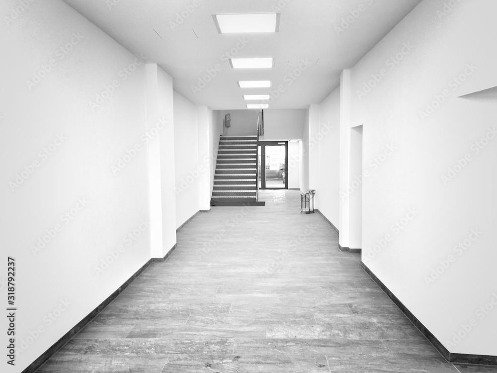 Fotografie, Obraz Empty Corridor In Building