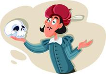 Hamlet Holding Skull Asking Ex...