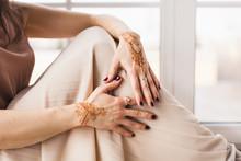 Hands With Henna Pattern, Wedd...