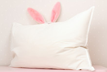 Closeup Of A White Pillow And ...