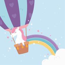 Unicorn Flying Air Balloon Sta...