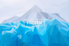 Lowpoly Background Of Frozen I...