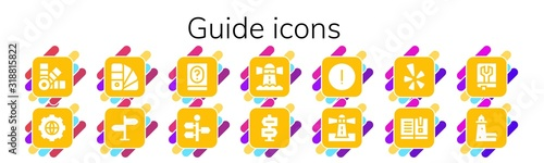 Fotografía guide icon set