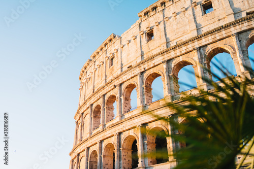 Rome, Italy - Jan 2, 2020: The Colosseum in Rome, Italy Canvas Print