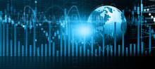 Financial Stock Market Graph. Digital Illustration..