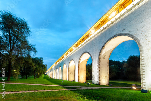 Rostokinsky aqueduct in Moscow Canvas Print