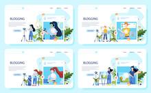Blogger Concept Illustration. ...