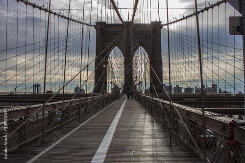Fototapety, obrazy: VIEW OF SUSPENSION BRIDGE