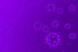 Leinwanddruck Bild - 3d rendering of healthcare and medicine Concept. Purple Virus or bacteria cells on science background. Close up. Viruses in infected organism, viral disease epidemic. Corona, influenza viruses.