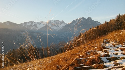 Fotografering SCENIC VIEW OF SNOWCAPPED MOUNTAINS AGAINST SKY