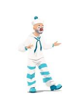 Cartoon Circus Clown Character...