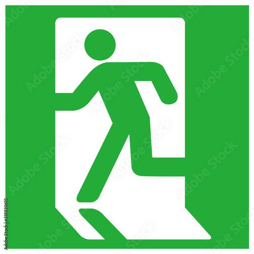 emergency exit sign icon vector Tapéta, Fotótapéta