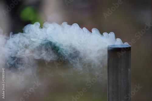 Fotografiet Close-Up Of Smoke Emitting From Chimney